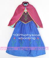 Wholesale Big discounts off IN STOCK hot sale Costumes The princess dress ELSA ANNA set DROP SHIPPING high quality SET DM
