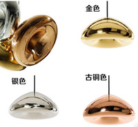 Wholesale Tom Dixon brass bowl chandelier Creative Living Room Restaurant Bar Bar cafe glass chandeliers shipping