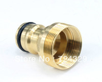 Timers & Controllers Garden Water Connectors Yes Wholesale-1pc Copper male female threaded tap connectors 23mm washing machine faucet hose connectors car garden supplies free shipping