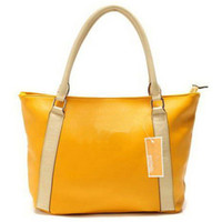 Totes Women Plain free shipping 2013 new female handbag 9865 yellow fashion hand bag college classic ladies designer totes women cheap purse