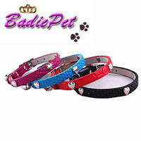 Wholesale Retail Cute Heart Faux Snake Leather Cat Collar with Elastic Safety Belt off for