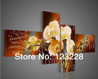 Wholesale Flower Painting Canvas Impasto Oil Painting Handpainted Sets Piece Purple Modern Decorative Oil Painting On Canvas AP00144