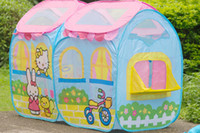 Tents Animes & Cartoons Cloth wholesale retail top quality Children Toys Garden Game Pop Up Playhouse Ball Pit Outdoor Indoor Kids Tent Net 50pcs balls