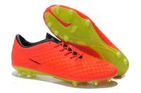 Wholesale World Cup Brazil New Arrivals Mens Phantom FG Outdoor Soccer Shoes Top Quality Mens Brand Popular FG Football Shoes BNIB