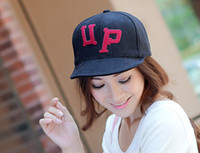 Ball Cap Red Spot Korean version of the influx of winter wool baseball cap hip-hop skateboard UP letters spell color cap turned brimmed hat hip hop B0027