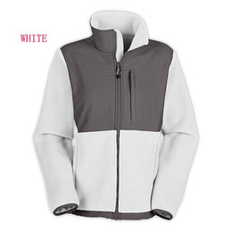 Wholesale The Fashion Women Fleece Jacket Woman Fleece Jacket Windproof Coat Outdoor Mountaineering Sportswear Black White Pink Size S XXL