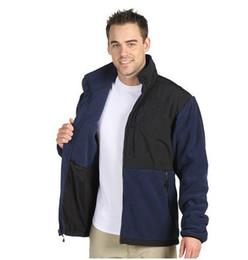 Wholesale New Men s Fleece Jacket Fashion Fleece Winter Jacket Windproof Slim Coats Black Red Grey Blue Size S XXL Mix