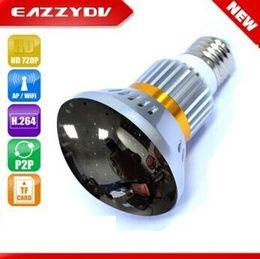 EazzyDV 881M HD720P Miroir Couverture Ampoule Wifi Sécurité DVR Caméra IP INVISIBLE lumière à l'oeil humain la nuit à partir de ampoules pour appareil photo fabricateur