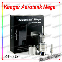 Replaceable 3.8ml Metal 2014 Newest Airflow Adjustable Kanger aerotank Mega Clearomizer kangertech Mega aerotank Dual Coil Atomizer kanger tech aerotank mega