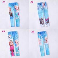 FREE FAST WAY Elsa Anna girls children leggings long pants t...