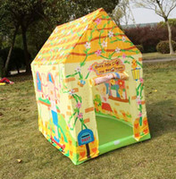 Tents Animes & Cartoons Cloth wholesale retail top quality Kids Toys Children Playhouse Indoor Outdoor Game Pop Up Ball Pit Tent Xmas Gift with 100pcs balls