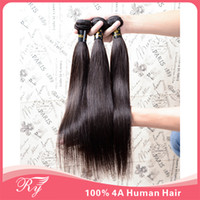 Wholesale queen hair products original mongolian human hair weave straight hair extensions same mixed length in stock free shpping