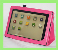 "Protective Shell/Skin 8'' for nook Lychee Style PU Leather Case Cover for Nook HD 9"" Tablet Stand Case"