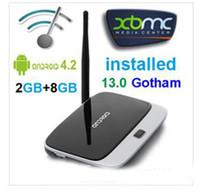 Wholesale Hot Original T R42 CS918 Bluetooth Smart Android TV BOX RK3188 Quad Core IPTV Google Internet Live TV Channels Installed XBM