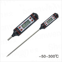 Wholesale LJP618 Digital Cooking Food Probe Meat Household Thermometer Kitchen BBQ Buttons