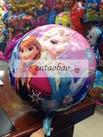 Wholesale Quality Happy Birthday Decoration Frozen Princess Queen Anna Round Party Balloon frozen party decoration frozen party supplies