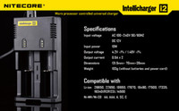 Wholesale Nitecore intellicharger i2 Nitecore Universal Battery Charger With US EU Plug For CR123A SONY vtc4 vtc5 battery