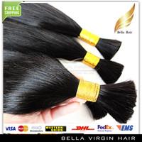bulk hair extensions - Brazilian Virgin Human Hair Bulks Natural Color A Straight PC Top Grade Human Hair Extensions Bleachable Queen Hair quot quot Bellahair DHL