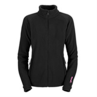 Wholesale New Women Khumbu Pink Ribbon Fleece Jacket Fashion Fleece Slim Jacket Outdoor Sports Mountaineering Coats Black Pink