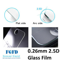 0.26mm 2.5D glass film cell phone tempered protector for iphone 4 4s 5 5s 5c 100pcs