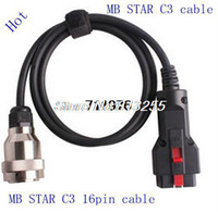 Car Diagnostic Cables and Connectors For Benz CDP PLus factory 16pin cable for MB STAR C3 product can reading out and erasing trouble code with free shipping