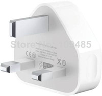 Wall Chargers Universal For UK UK AC Home Wall Charger Plug Power Adapter for iPhone 3 4 5, White