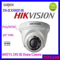 "DS-2CE5582P-IR   free shipping HIKVISION DS-2CE5582P-IR Resolution 600TVL 1 3"" DIS ICR Outdoor IR Metal Dome Camera security camera support IP66"