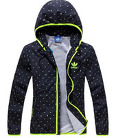 Wholesale 2014 New Thin Windcheater Women Men Windbreaker Breathable Climbing Sports Jacket Hooded Dot Print Sportswear Men