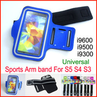 Wholesale 9 Colors WaterProof Sport Gym Running Armband Protector Belt Soft Pouch Case Cover holder for Samsung Galaxy S5 i9600 S4 i9500 S3 i9300