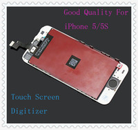 For Apple iPhone   The Best For iPhone 5S LCD Black White LCD Display & Touch Screen Digitizer Full Assembly for iPhone 5S & iphone 5C Replacement Repair Parts