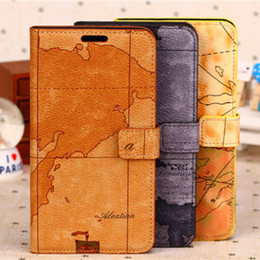 Wholesale Details about world map clamshell Flip Wallet Leather Case Cover For Samsung Galaxy Note III