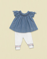 Children Brand Outfits Girls Sets Dress + Leggings Baby suit...