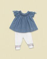 Children Brand Fashion Dress Girls Sets Dress + Leggings Bab...
