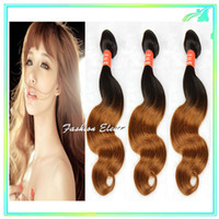 Wholesale Ombre Human Hair Weave Cheap Brazilian Remy Hair Body Wave Ombre Hair Extensions b Two Tone Remy Human Hair Weft