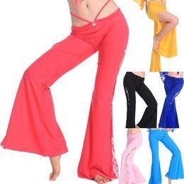 Wholesale Women s Fashion Elastic Bottoms Costume Belly Dance Dancing Pants Tribal Fusion Colors L034919