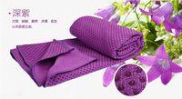 Wholesale Silicone yoga towel cm cm antiskid Super Fiber Yoga Towel Yoga Mat Non slip Yoga Mats for Fitness Blankets EMS