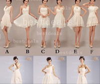 2014 Cheap short Bridesmaid Dresses Knee Length Ruffles Prom...