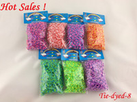 Wholesale Rainbow Loom Kit DIY Wrist Band Dual Color Bracelet bands clips hood Glow in the Dark Glitter Metallic Tie dyed