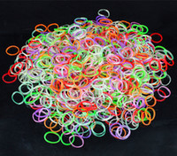 Charm Bracelets Other Unisex Colorful Glow In The Dark Rainbow Loom Band Kit DIY Jewelry Charm Bracelet Children Gift 600pcs Band+24 Clips+1pcs Hook