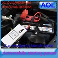 Wholesale 12000mAh Multi Function Car emergency start power Jump Starter Mobile phone Laptop External Rechargeable Battery V4000mAh