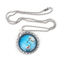 Beaded Necklaces Frozen Ball Chain Necklace Stainless Steel Frozen Ball Chain Necklace Snowman Olaf Pendants Beautiful Frozen Necklace Fashion Summer Clothing Accessories Free Shipping