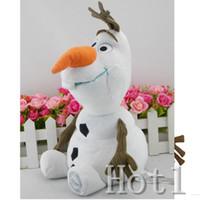 Wholesale DHL Best Gift Cartoon Movie Frozen Olaf Plush Toys For Sale cm Cotton Stuffed Dolls