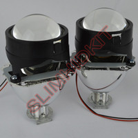 Wholesale 1pair Inches WST Bi Xenon Projector Lens Using H1 xenon lamp Easy Install for Most Cars Headlight Retrofit Car projector
