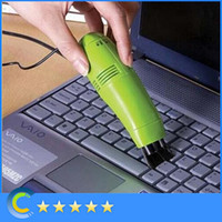 Wholesale High quality USB brush flexible rubber keyboards cleaner Mini Computer Vacuum for for PC Laptop Computer with retail box