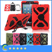 Wholesale For iPad mini ipad air Pepkoo Spider case Military Heavy Duty Waterproof Dust Shock Proof tablet Case with package for ipad