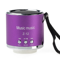 Wholesale New Purple Cylinder Style Mini Portable Music Speaker Player For MP3 Phone TF Card L01389