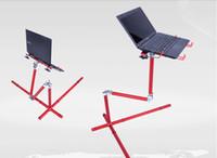 Metal School Furniture Computer Desk Bed Sofa Mobile Laptop Desk Aluminum Folding Moving Lift Laptop Table Adjustable Pad Stand Desk Table For Computer Notebook