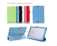 Wholesale 100pcs New Folio PU Stand Leather Case Cover ForASUS Transformer Pad TF103c TF103 inch Tablet PC