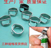Wholesale Stainless Steel Beer Bar Tool Finger Ring Bottle Opener