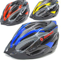 Wholesale Giant Bicycle Helmets Men and Women Cycling Helmet Mountain Bike Racing Adult Free Size Safty Adjustable Riding Protecter Helmets Colors